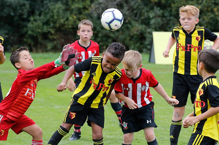 Southampton and Watford playing in the U9 Welcome Festival