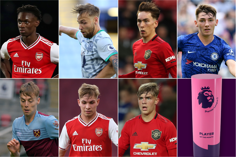 A graphic of the nominees for the August 2019 PL2 Player of the Month award