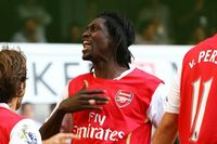 Watch Adebayor's stunner for Arsenal at Spurs
