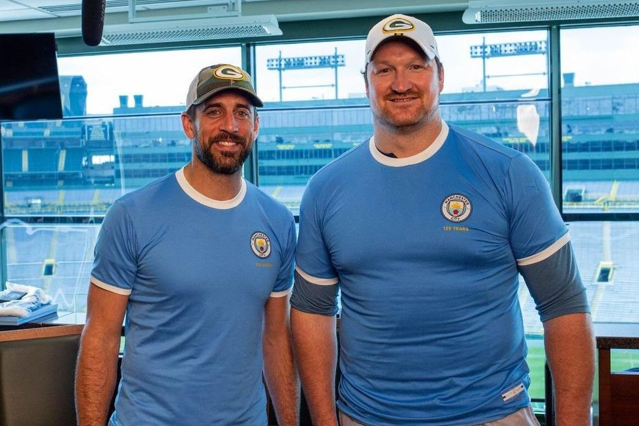 Aaron Rodgers and Bryan Bulaga, Man City