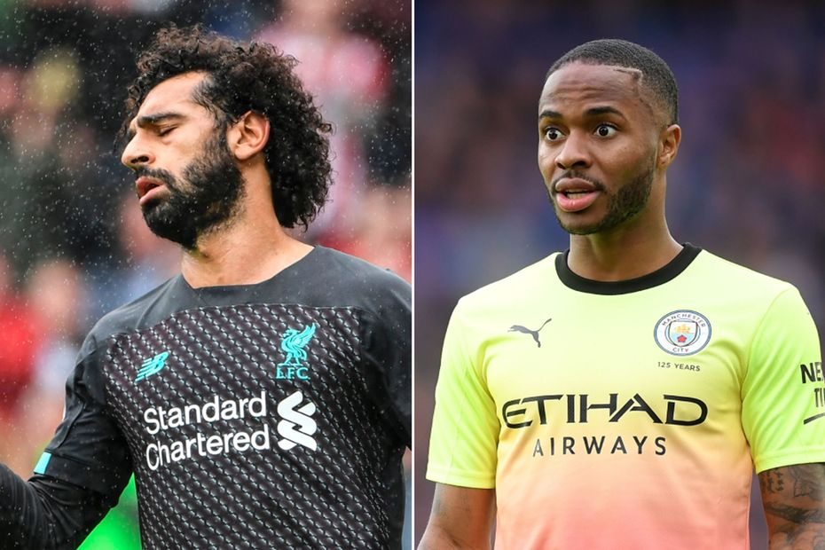 Mohamed Salah, Liverpool, and Raheem Sterling, Manchester City