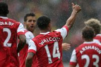 Goal of the day: Walcott's unerring finish