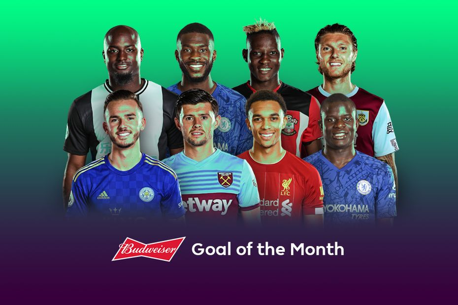 Budweiser Goal of the Month nominees for September 2019