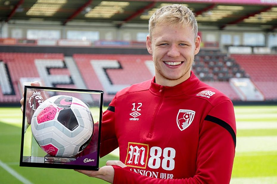 Aaron Ramsdale, AFC Bournemouth, debut ball