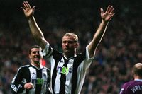 Watch Shearer's sweet volley against Aston Villa