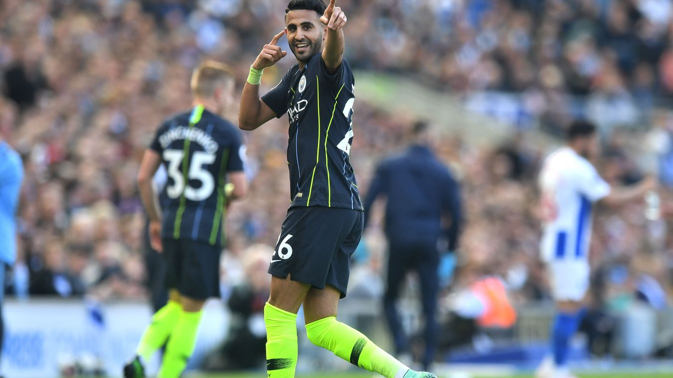 Riyad Mahrez, Manchester City celebration in 2018/19