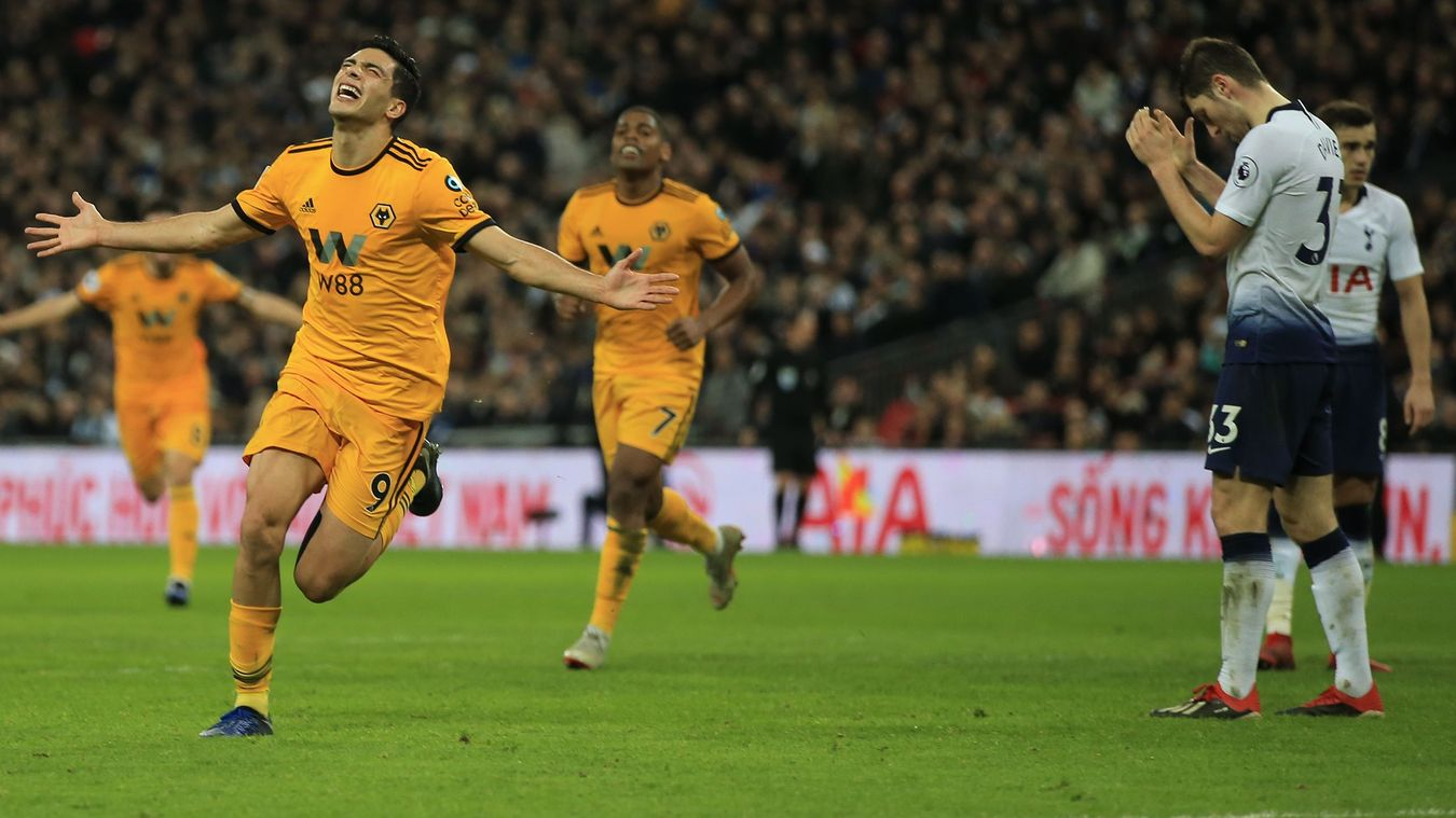 Raul Jimenez, Wolverhampton Wanderers celebration in 2018/19