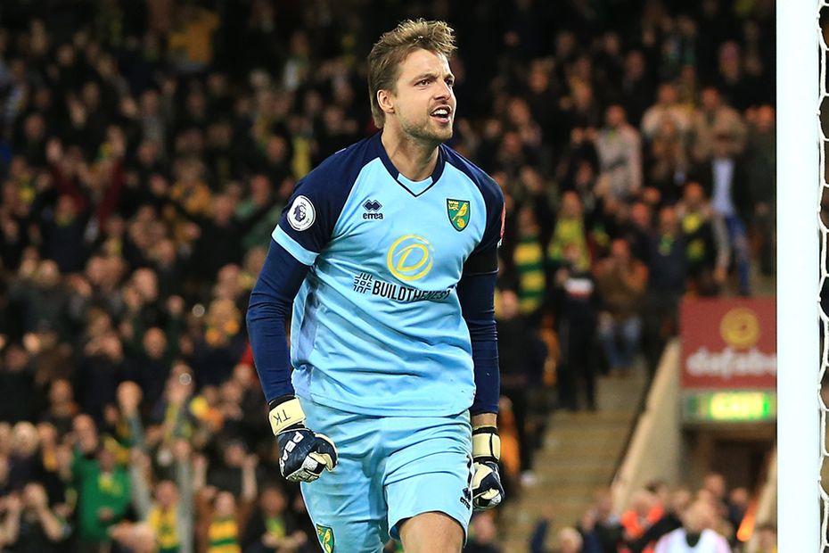 Tim Krul, Norwich City v Man Utd
