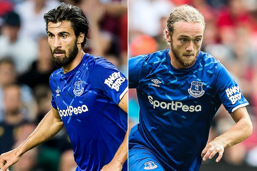 Andre Gomes and Tom Davies, Everton