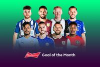 Budweiser Goal of the Month shortlist