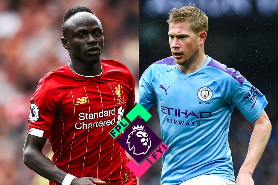 Sadio Mane and Kevin De Bruyne