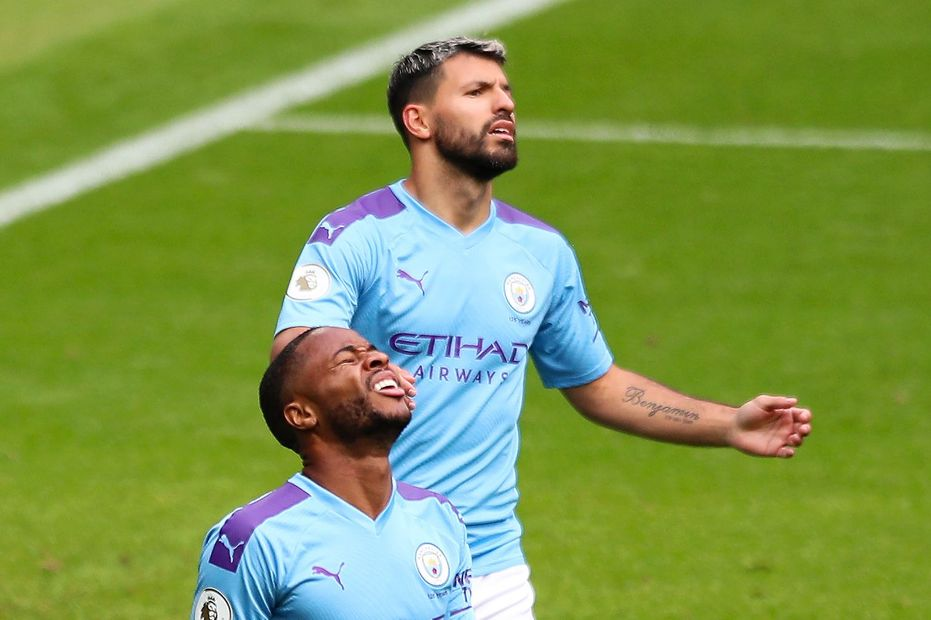 Sergio Aguero and Raheem Sterling, Man City