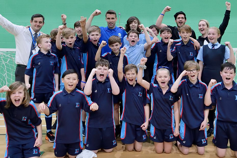 Seamus Coleman visits an Everton in the Community PL Kicks session