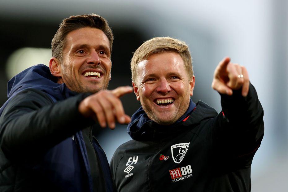 AFC Bournemouth's Jason Tindall and Eddie Howe