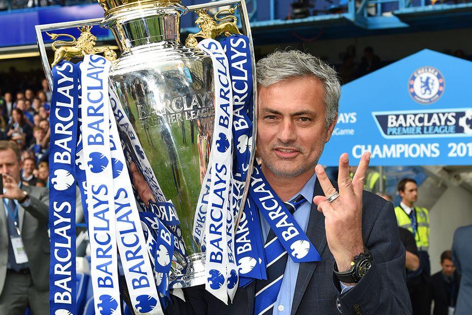 Jose Mourinho, Premier League Trophy, Chelsea