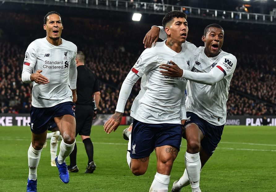 Image result for firmino's winner against crystal palace