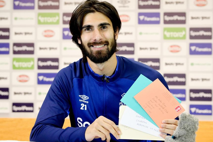 Andre Gomes well wishers letters
