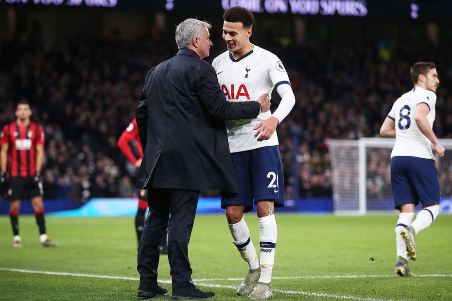 Jose Mourinho and Dele Alli, Tottenham Hotspur