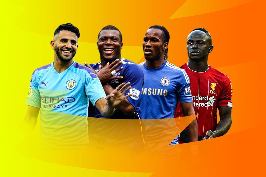 Riyad Mahrez, Yakubu, Didier Drogba, Sadio Mane