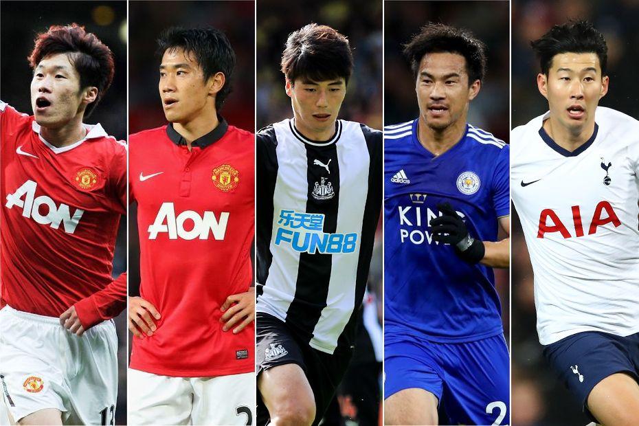 Park Ji-sung, Shinji Kagawa, Ki Sung-yeung, Shinji Okazaki, Son Heung-min
