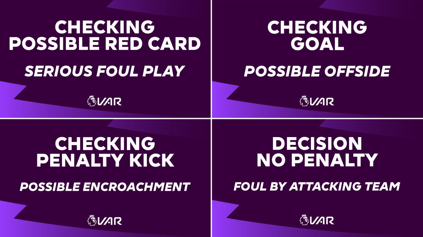New VAR big screen messaging - four examples