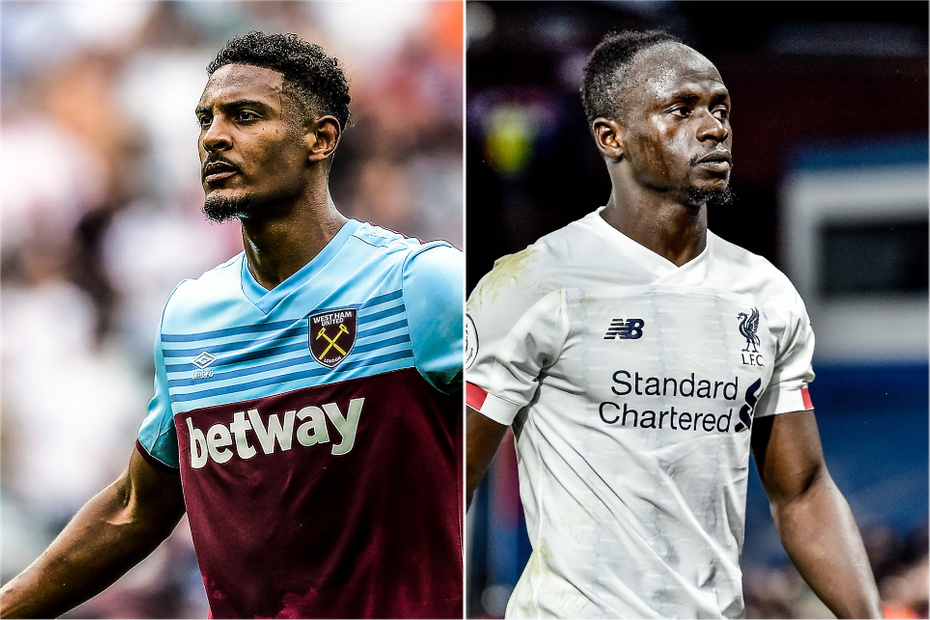 Sebastien Haller, West Ham United and Sadio Mane, Liverpool w