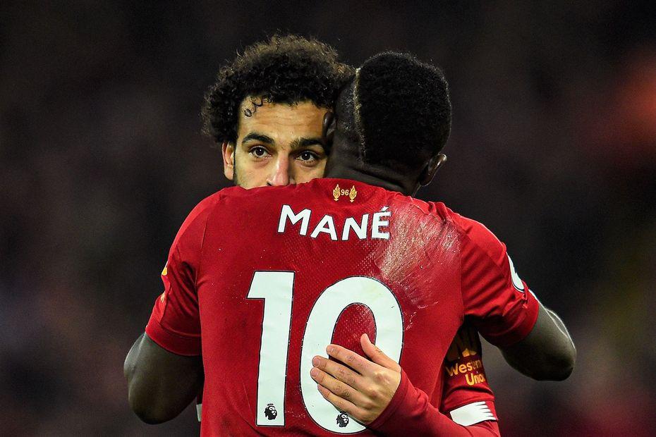 Sadio Mane and Mohamed Salah