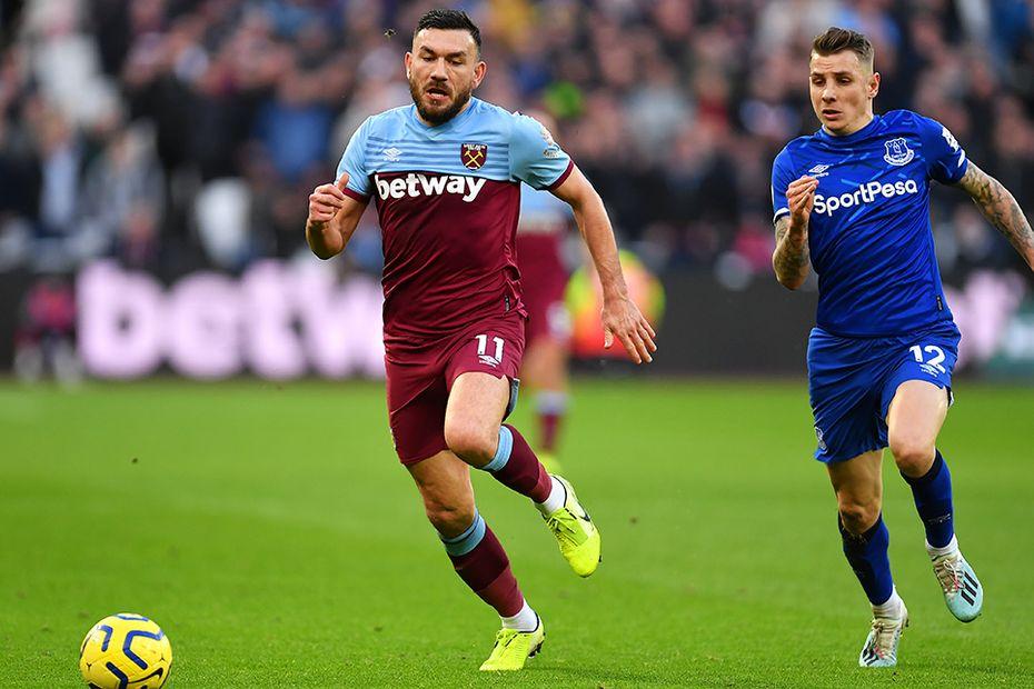 Robert Snodgrass, West Ham United v Everton