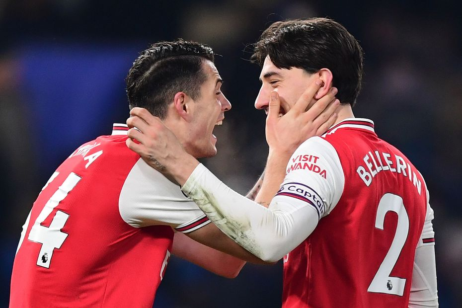Hector Bellerin and Granit Xhaka, Arsenal