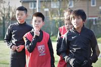 From China to West Ham: Youngsters' dream trip to England