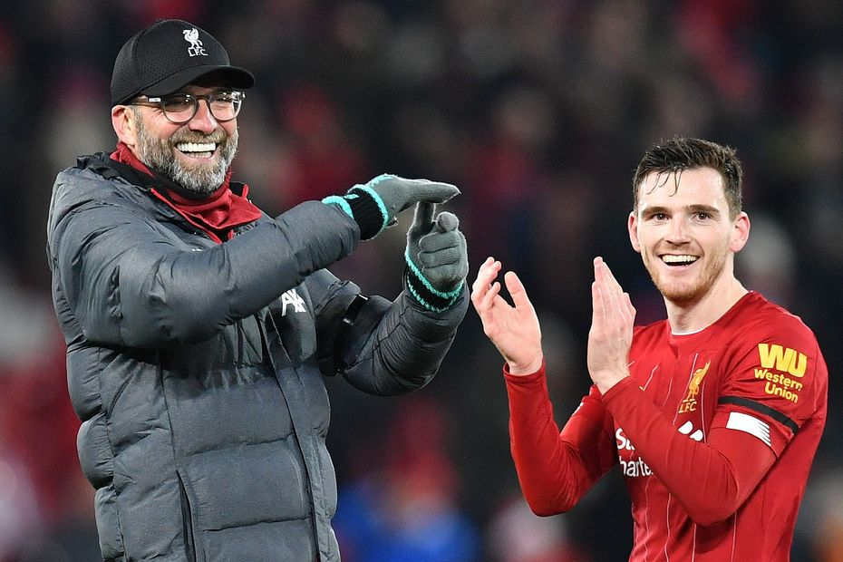 Klopp and Robertson, Liverpool