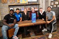 Duke of Cambridge joins football stars to discuss mental health