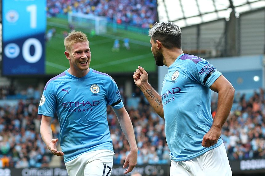 Sergio Aguero and Kevin De Bruyne, Man City