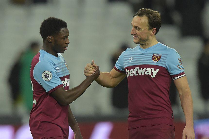 Jeremy Ngakia and Mark Noble, West Ham United