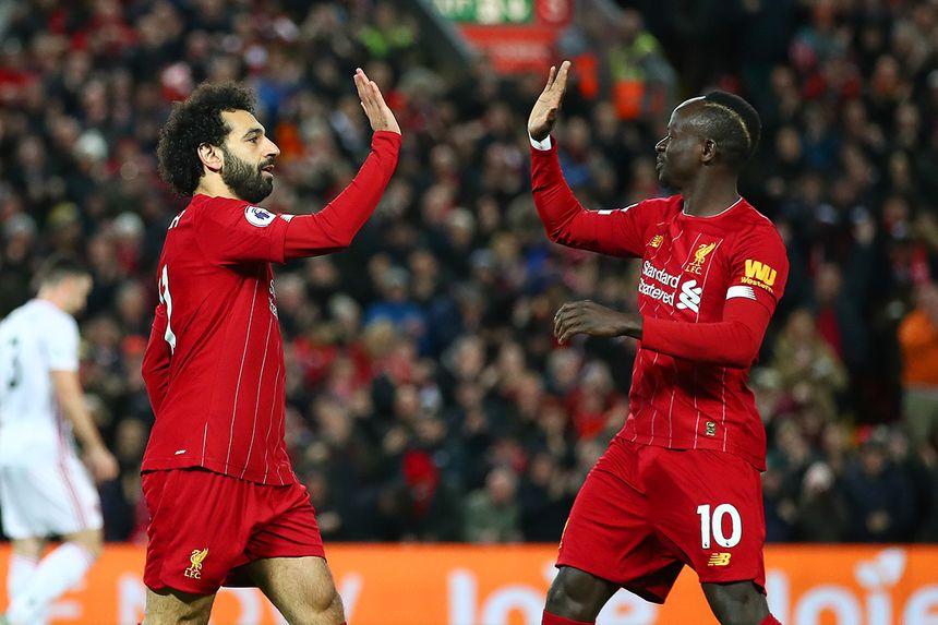 Mohamed Salah and Sadio Mane, Liverpool