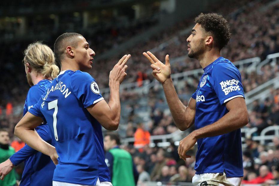 Richarlison and Calvert-Lewin, Everton