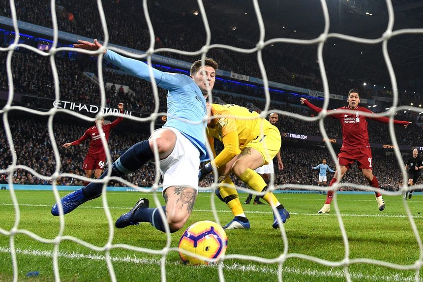 John Stones, Man City clearance v Liverpool