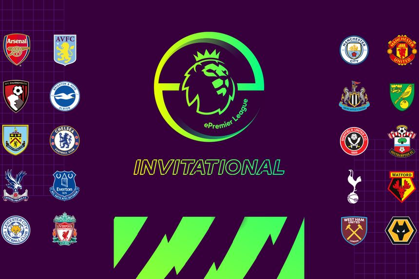 Graphic of the clubs taking part in the ePL Invitational