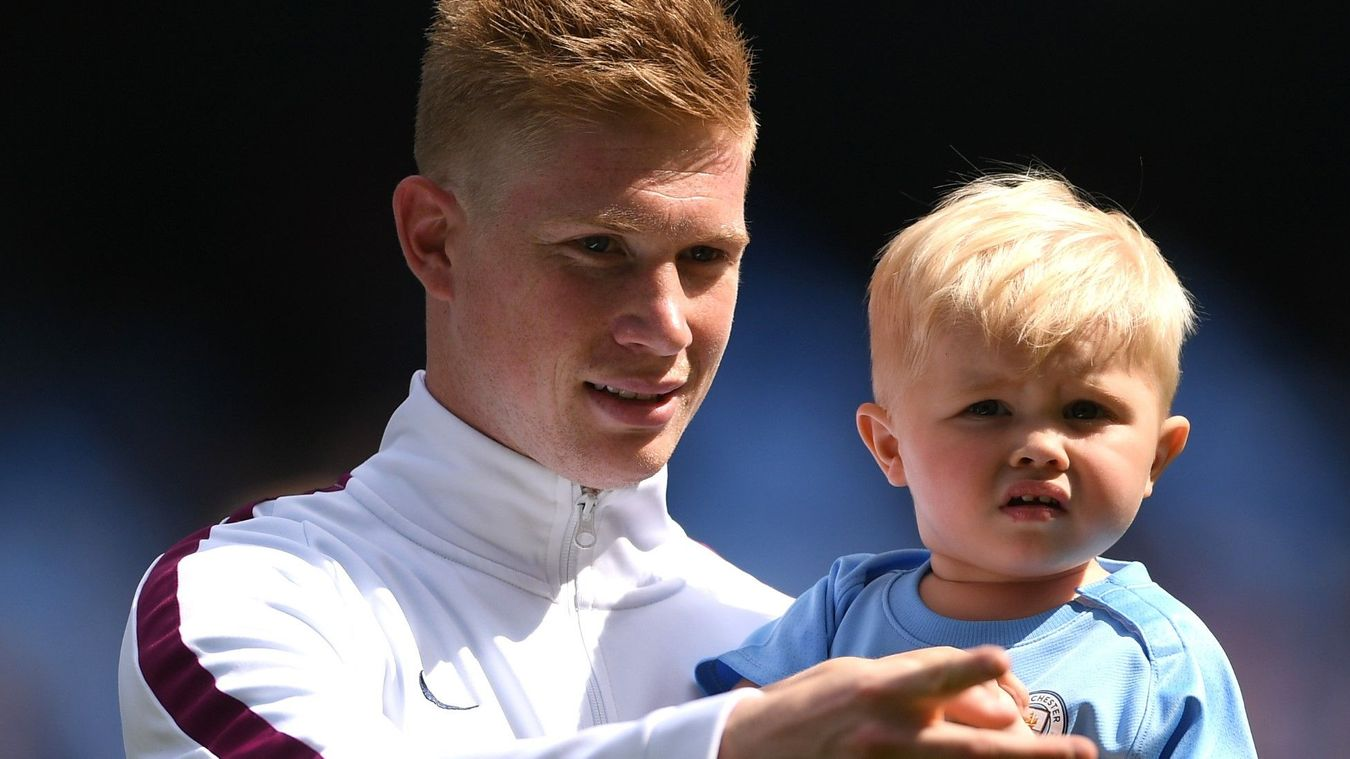 Kevin De Bruyne and son