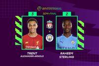 Highlights: Liverpool beat Man City with ePL semi-final Golden Goal
