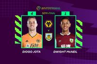 Highlights: Jimenez nets brace as Jota beats McNeil to reach ePL final