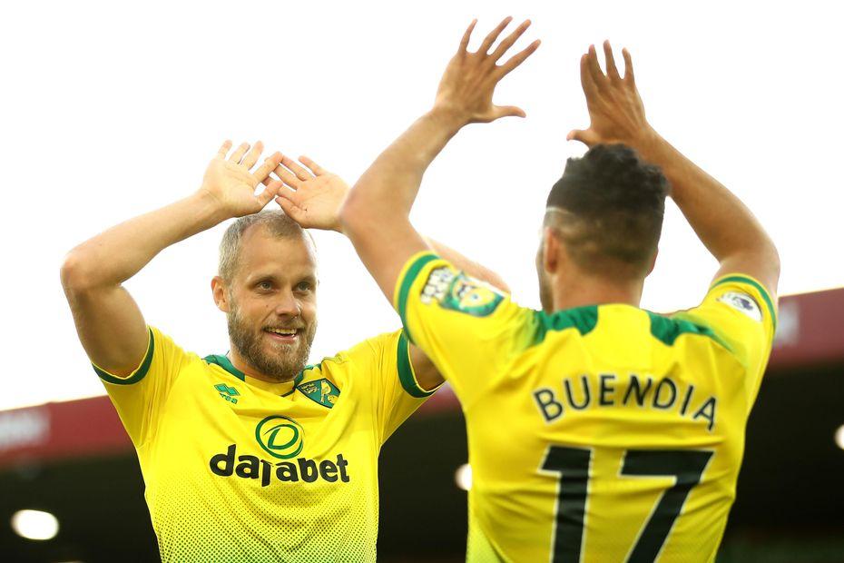 Teemu Pukki and Emiliano Buendia, Norwich City