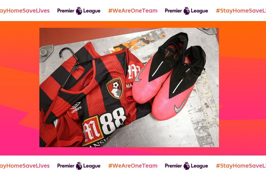 AFC Bournemouth shirt and boots