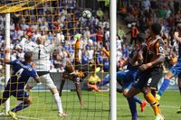Goal of the day: Hull's double overhead kick
