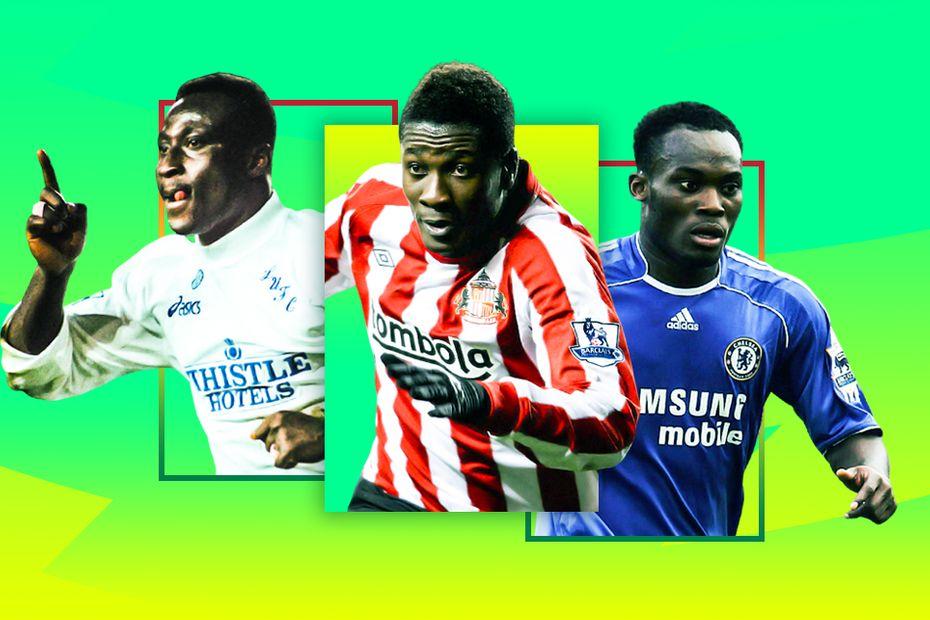 Yeboah, Gyan and Essien, Ghanaian players