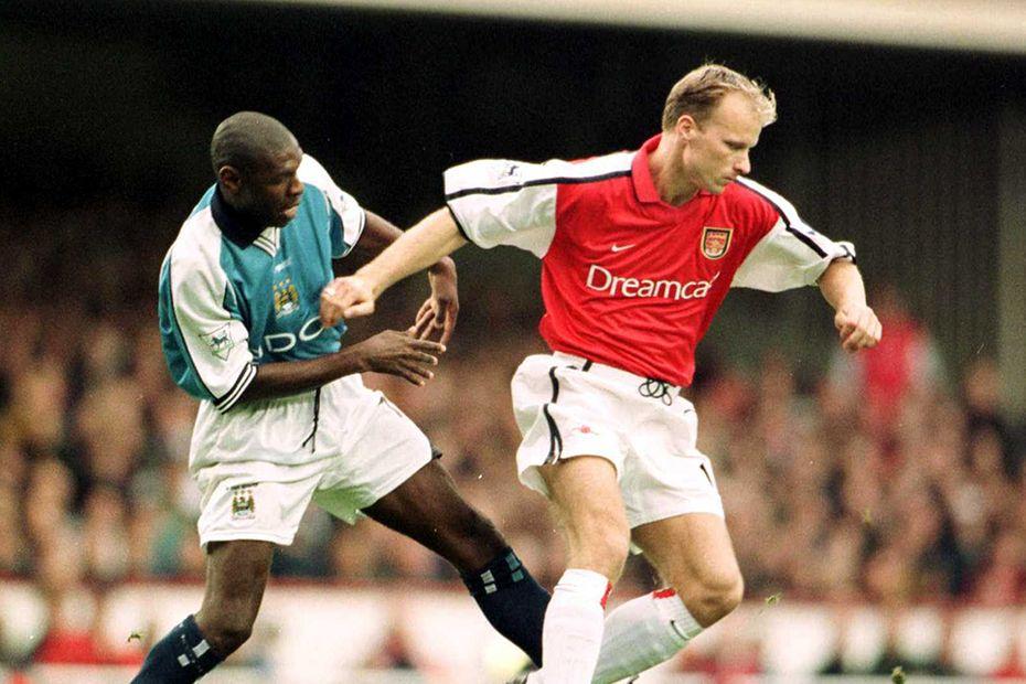 Dennis Bergkamp against Man City