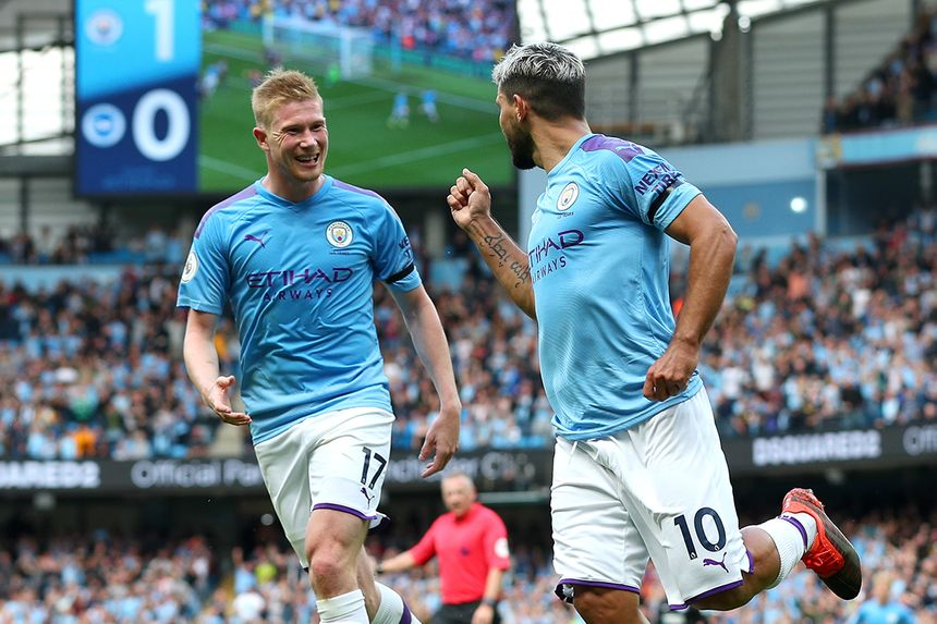 Kevin De Bruyne and Sergio Aguero, Man City