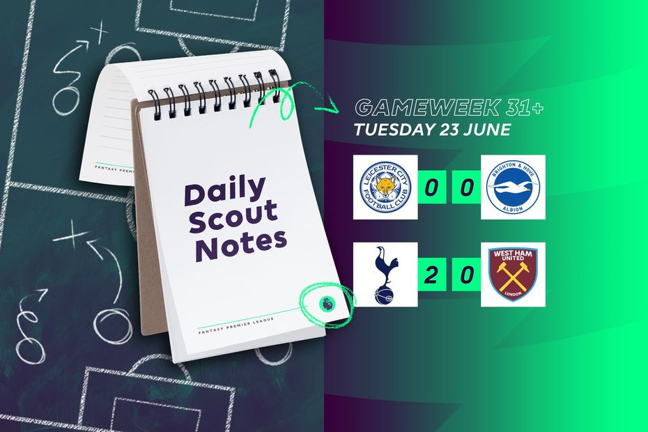 Scout Daily Notes, Tuesday 23 June