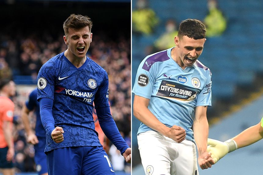 Mason Mount and Phil Foden