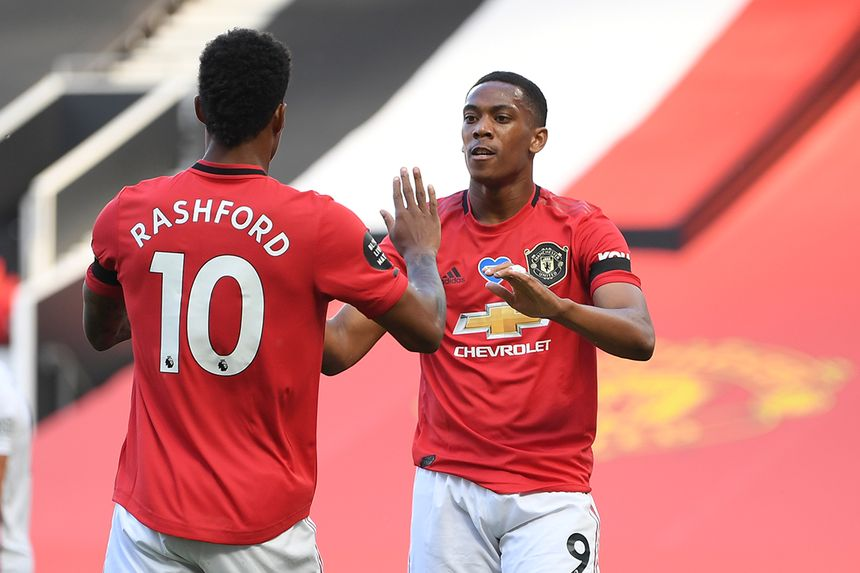 Marcus Rashford and Anthony Martial, Man Utd